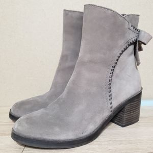 UGG Suede Zip Up Boots